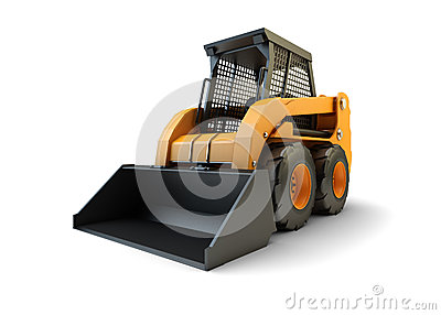 Construction loading vehicle