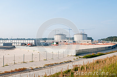 Construction of LPG terminal in Swinoujscie Editorial Image