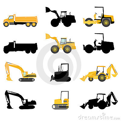 Free Construction Machines Vector Royalty Free Stock Photo - 5876105