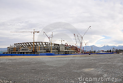 Construction of the main stadium in the Olympic Pa Editorial Stock Image