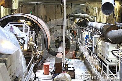 Construction of metro