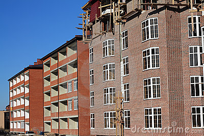 Construction of multi-storied brick houses