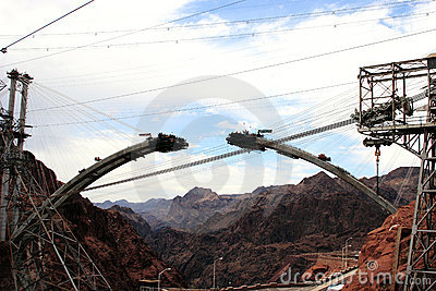 Construction of New Hoover Dam Bridge Bypass