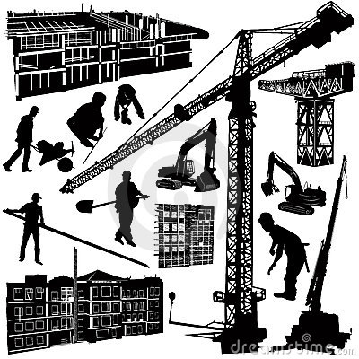 Free Construction Objects Vector Stock Image - 4010361