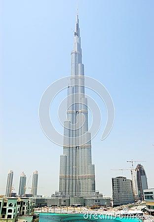 Free Construction Of Burj Dubai Skyscraper Stock Photo - 12029950