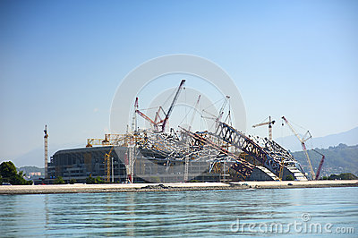 Construction of Olympic facilities in Sochi