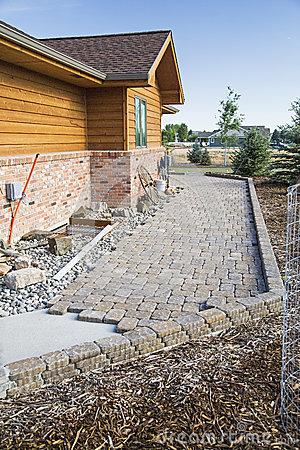 Free Construction Patio Pavers Sidewalk Royalty Free Stock Photo - 64646485