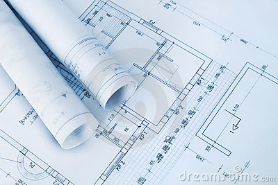Construction plan blueprints royalty free stock image for Plan construction