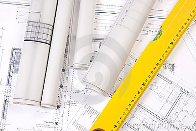 Construction Plans and ruler