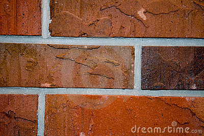 Construction red bricks