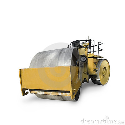 Construction roller vehicle