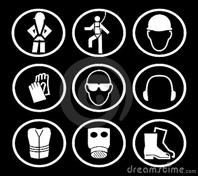 Construction safety symbols