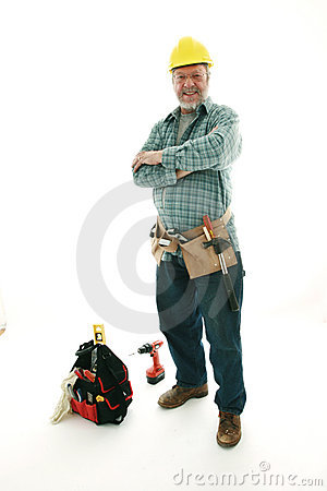 Construction senior man