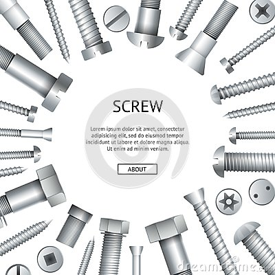 Free Construction Shop Advertising Banner With Bolts Royalty Free Stock Image - 117601276