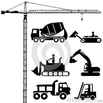 Free Construction Silhouettes Stock Photos - 5684983