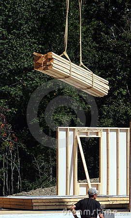 Construction Site - Crane dropping boards