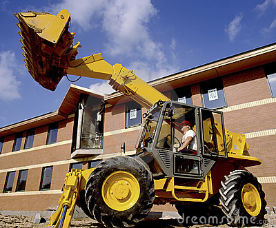 Construction Site Digger Editorial Stock Photo