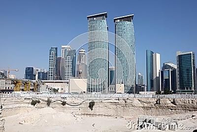 Construction site in Doha, Qatar