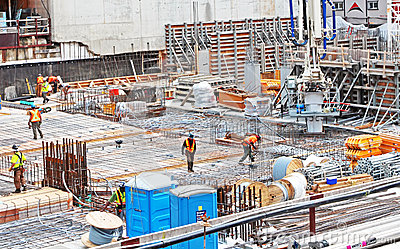 Construction Site Editorial Stock Image