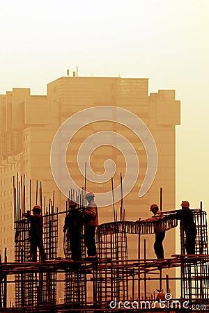 Construction Site at dusk.