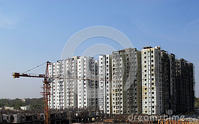 Construction site in Hyderabad India