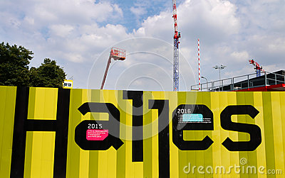 Construction site at Les Halles, Paris, France. Editorial Stock Image