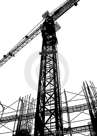 Free Construction Site Silhouette Stock Image - 420451