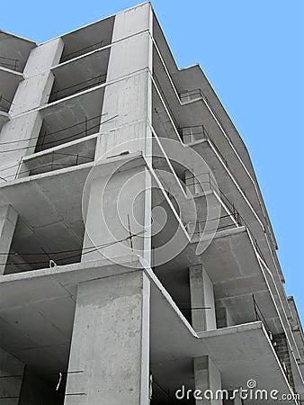 Construction site, skyscrapper building