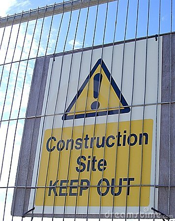 Construction Site Warning Sign