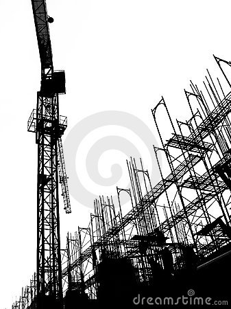 Free Construction Site With Crane And Scaffolding Stock Photography - 640252
