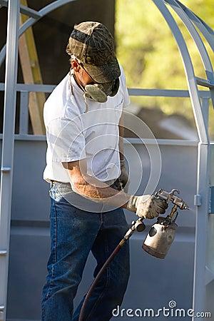 Spray Painting Worker