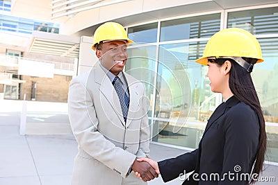 Construction Team Handshake