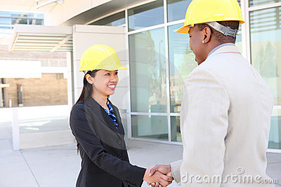 Construction Team Handshake