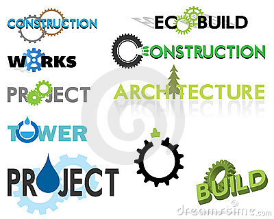 Construction themed text graphics