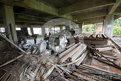 Construction tools in abandoned buildings