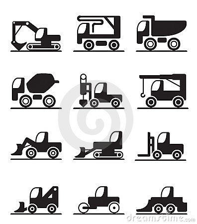 Construction trucks and vehicles