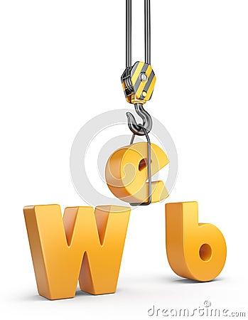 Construction web site. 3D