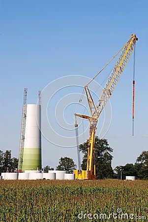 Construction windturbine