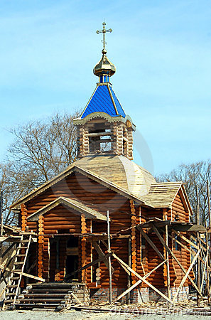 Construction of a wooden church