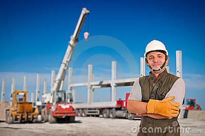 Construction and worker
