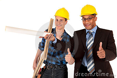 Construction worker architect