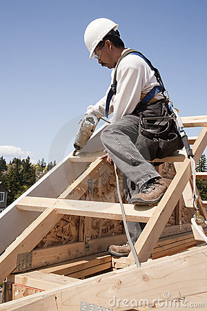 Free Construction Worker At Work Stock Images - 12992094