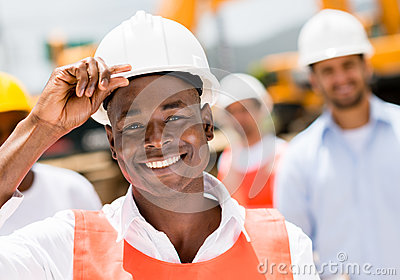 Construction worker at a building site