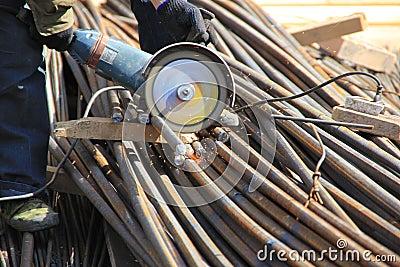 construction worker cuts rebar circular saw stock photos image 20364613 rebar worker rebar worker