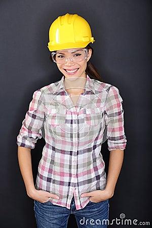 Free Construction Worker Happy Woman Portrait Stock Image - 32394451