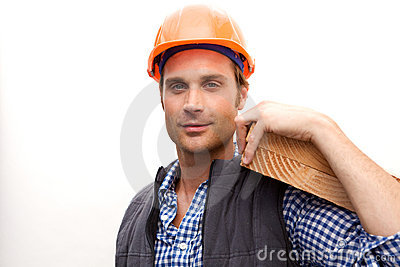 Construction Worker on the job