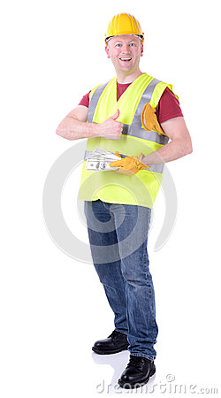 Construction Worker Money Stock Image Image 30764091
