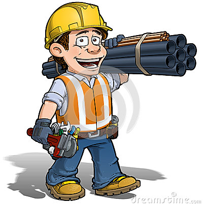 Free Construction Worker - Plumber Stock Image - 31325061