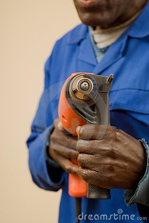 Construction Worker with Power Tool