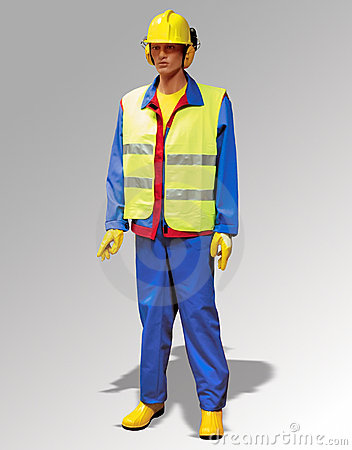 Construction worker - puppet